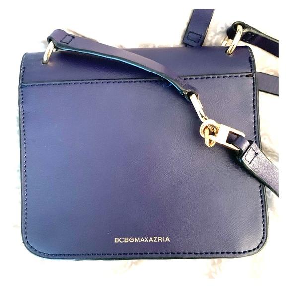 BCBGMaxAzria Handbags - Navy leather BCBG crossbody handbag